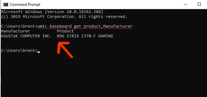 Type commands into the computer using a prompt